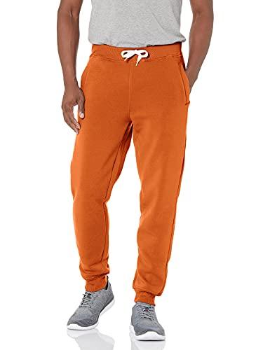 Southpole Men Active Basic Jogger Fleece Pants, Rust, S