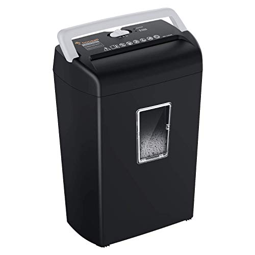 Bonsaii 10-Sheet Cross-Cut Paper and Credit Card Shredder Machine, 21-Litre...