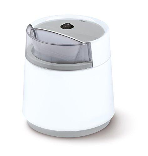 Trebs 99254 Eis- und Milchshake- / Sorbetmaschine für bis zu 6 Personen, Kapazität 800 ml, inkl. Rezeptvorschläge für Speiseeis, doppelwandiger Thermobehälter