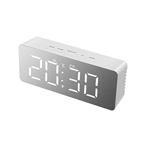 USB LED wake-up nachtlampje digitale elektronische klok desktop wekker make-up spiegel klok decoratieve wandklok op batterijen