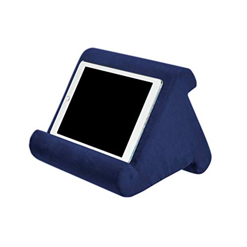 strety Tablet Stand Pillow, Book Couch Pillow Stand, Tablet Wedge Holder, Multi-Angle Soft Pillow Lap Stand, Portable Triangle Tablet Stand for Tablets, eReaders, Smartphones, Books