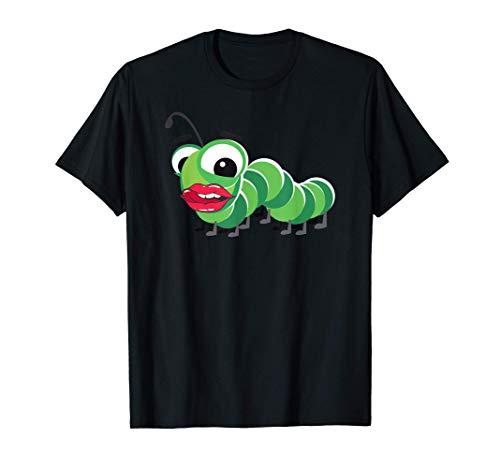 Filtro de boca grande Lengua de oruga Camiseta