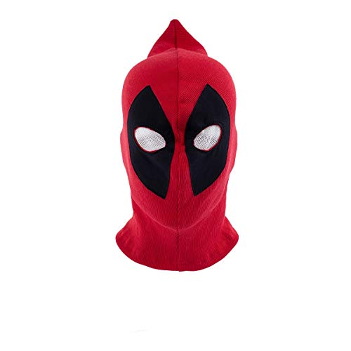 Coolchic Halloween Deadpool Mask Cosplay Costume Accessory for Kids and Adults Spandex Lycra. Red