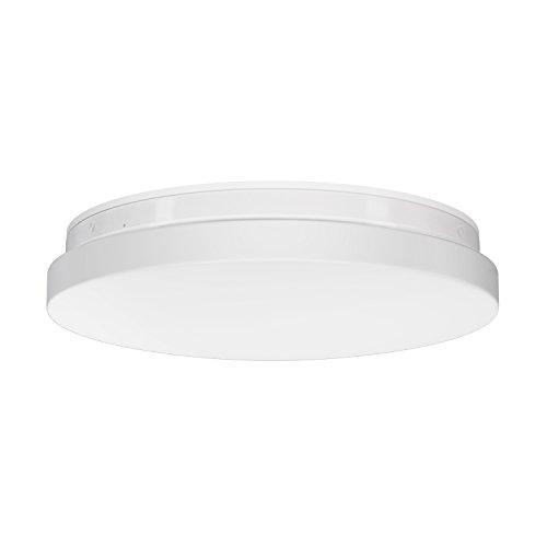 ledscom.de LED Deckenleuchte, Badlampe Badu für Innen und Außen rund Ø 26cm IP44 Abstrahlwinkel 190° 24W=110W 1600lm warm-weiß