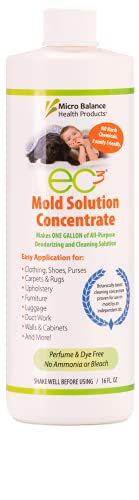 EC3 Mold Solution Concentrate-Botanical Solution for Hard and Soft Surfaces-16 FL OZ