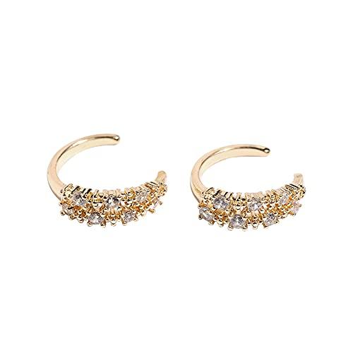 Gold Ear Cuff for Women - Cuff Earrings for Girls, Ear Cuff Earring Gifts for Friend,Sister, Daily Wearing (v Gold Earrings)
