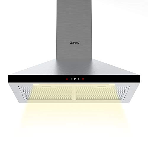 GIONIEN Wall-Mounted Cooker Hoods,60cm Chimney Extractor Hood, Stainless...