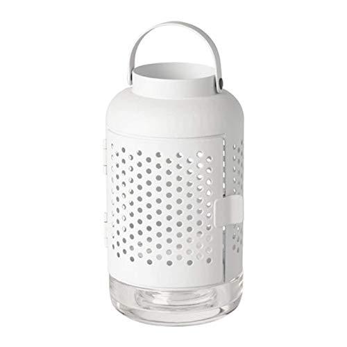 IKEA Adelhet Windlicht für Teelicht weiß 504.216.49 Größe 20,3 cm