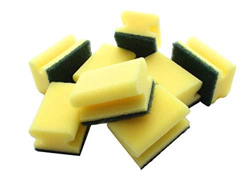 Topfschwamm Gelb 8 Stück Topfreiniger mit Griffleiste 8x6x4,5cm 2-Seiten