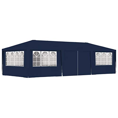 UnfadeMemory Gazebo Professionale con Pareti 4x9 m Blu 90 g/m²