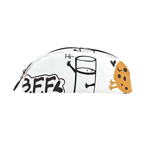 Reißverschluss Federmäppchen Glas Süße Milch Und Keks Federbeutel Organizer Federmäppchen Tasche Reißverschluss Für Studenten Klasse Kinder Junge Mädchen Schule Bleistiftbeutel Für Mädchen