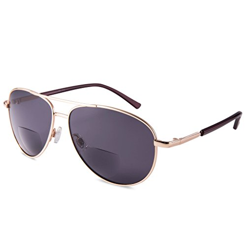 EYEGUARD Unisex Classic Style Bifocal Sunglasses Readers with Lens UV400 Protection Outdoor Reading Glasses for Men and Women