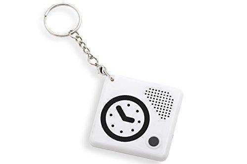 Doordacht ontworpen pratende klok sleutelhanger