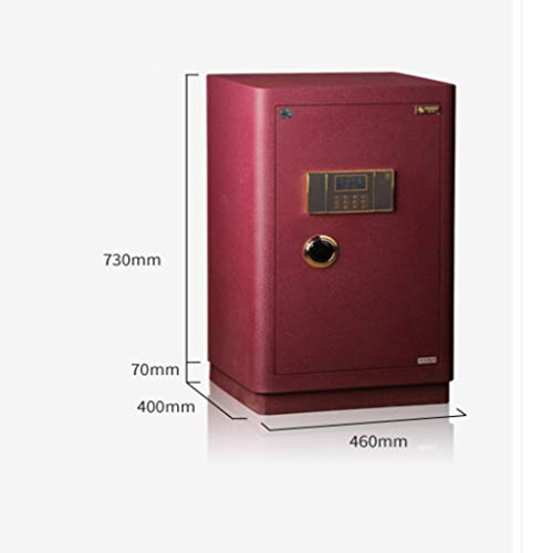 WANGJUNXIU Large Safes, 80CM High Security Electronic Digital Safe All Steel Study Bedroom Password Safes, Cash Box Hotel, Office Private Filing Cabinet Fireproof Deposit Box Safe Box