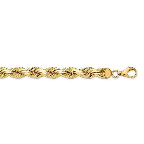 14k Yellow Gold 12mm Link Rope Lobster Clasp Chain Necklace 24 Inch Pendant Charm Fine Jewellery For Women Gifts For Her