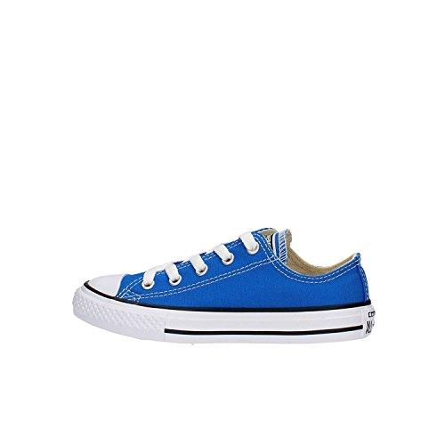 Converse Chuck Taylor all Star Ox, Scarpe da Ginnastica Basse Unisex-Bambini, Blu (Blau Blau), 28 EU
