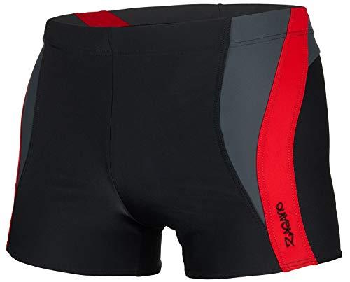 Zagano Adam Lipski Herren Badehose,2376, 5 schwarz-rot, Gr. 3XL