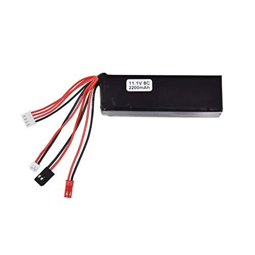 2200 mAh 11,1 V 8 C Controller Li-Po Akku für Walkera DEVO 10 / DEVO 7 / JR FUTABA JST Sender Li-Poly RC Akku & (Farbe: Schwarz)