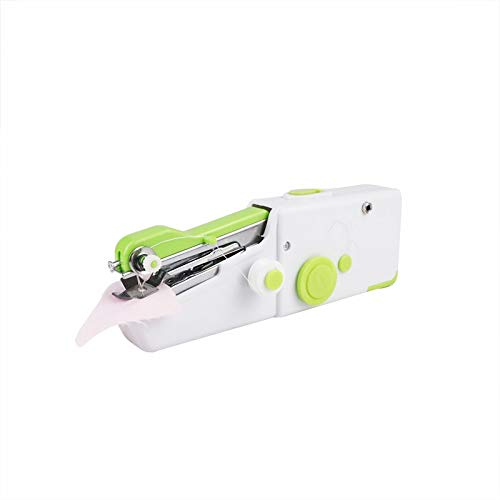 Portátil Máquina de coser eléctrica mini portátil para principiantes Conjunto inalámbrico de grapadora para ropa de tela Herramienta de uso de viajes a domicilio para tela, hogar, viajes
