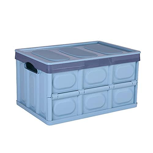 Caja de almacenamiento de plástico plegable con tapa caja de almacenamiento cocina dormitorio y viaje contenedor box56l