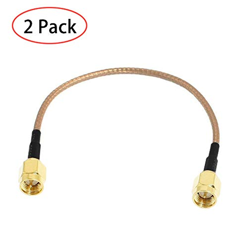 TengKo 2 Pack SMA Stecker auf SMA Stecker Verlängerungskabel RG316 SMA Antennenkabel für WiFi Drahtlose Pigtail Jumper Low Loss Patch Blei Für SDR Geräte Baofeng FPV FCC Emissionen Testen