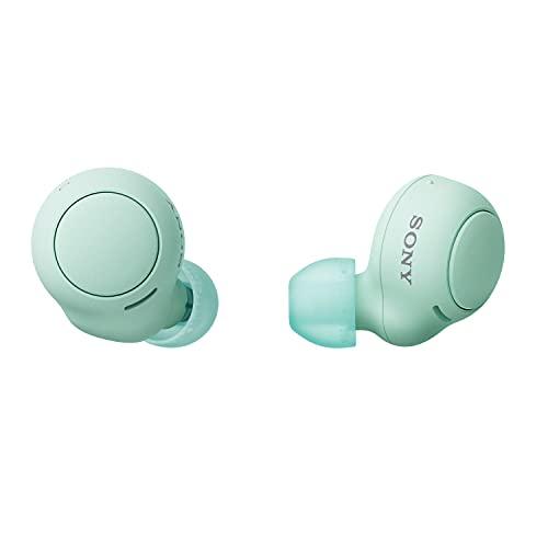 Sony WF-C500 - Ecouteur bluetooth sans fil - Jusqu'à 20h d'autonomie avec le boîtier de charge - Compatible assistants vocaux - Micro intégré appels mains libres - Connexion Bluetooth stable - Vert