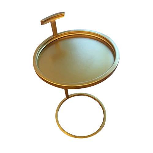 Table Haizhen Petit meuble rond simple et moderne en fer forgé doré