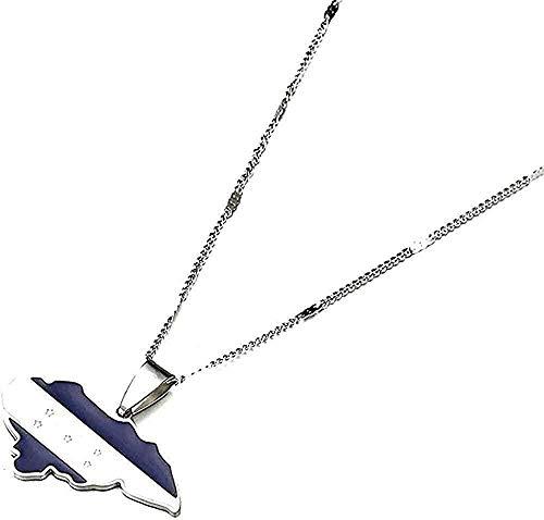 Aluyouqi Co.,ltd Collar Collar Acero Inoxidable Esmalte de Moda Mapa de Honduras Collares Pendientes Mapas de Honduras Joyería del Encanto