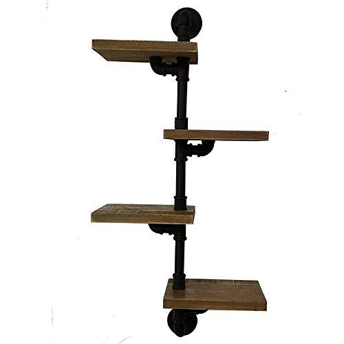 ZDAMN rekken 4 lagen industrieel wandrek ladder plank DIY ijzeren buis staande boekenkast met industriële buisklemmen