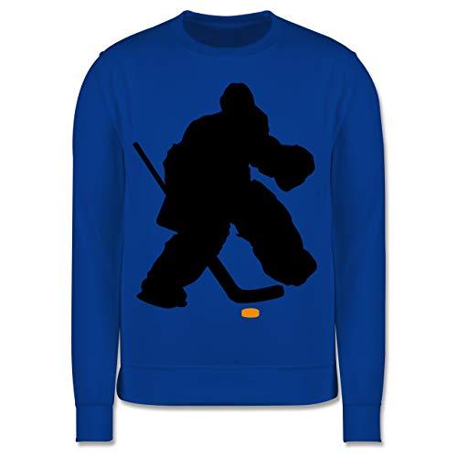 Sport Kind - Eishockeytorwart Towart Eishockey - 128 (7/8 Jahre) - Royalblau - Geschenk - JH030K - Kinder Pullover