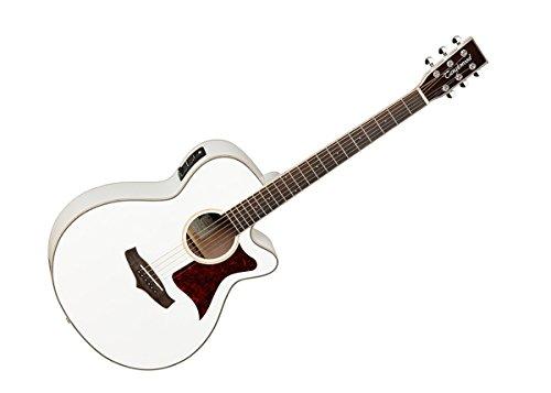 Tanglewood TW4WH SUPER Folk Elektro-Akustik Gitarre, Decke aus massivem Zedernholz, mit EQ