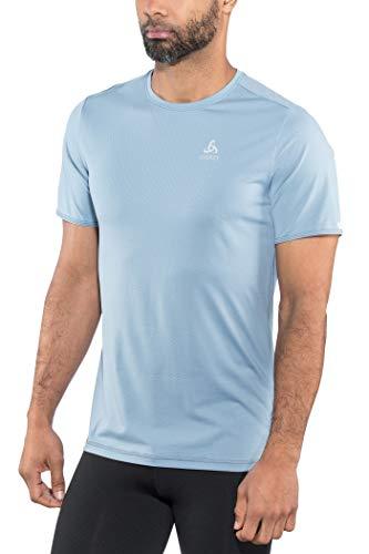Odlo T-Shirt à col Rond pour Homme XL Bleu Jeans Clair