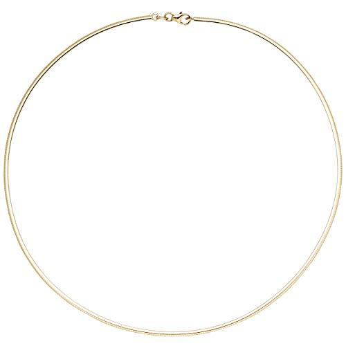 JOBO Damen-Halsreif aus 333 Gold 42 cm 2 mm
