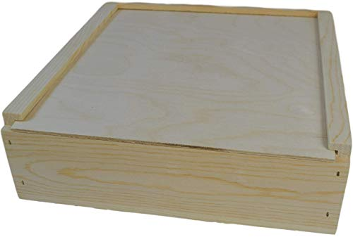 12x12x3 3/4 inches outside dimensions slide top box