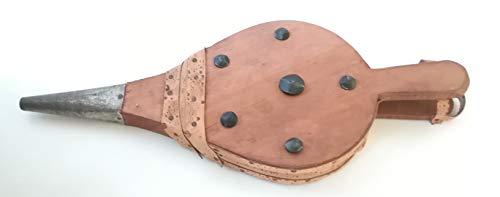 Soufflet pour cheminée - Art. 6495 - Soufflet en bois avec housse en cuir synthétique - Soufflet de cheminée