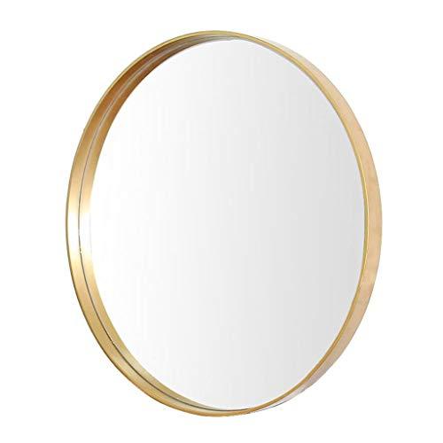 YXB eenvoudige metalen ronde badkamerspiegel aan de muur bevestigde start slaapkamer spiegel kaptafel decoratie make-up spiegel goud J4/6