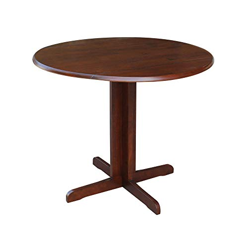 International Concepts Dual Drop Leaf Dining Table, Espresso, 36-Inch