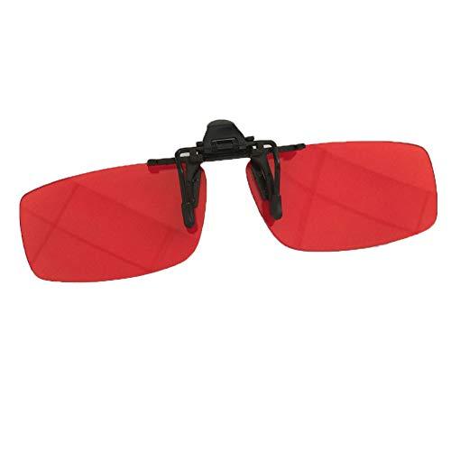 ANAPH farbenblinde Korrekturbrille, Unisex 180 ° Reversible Clip-farbenblinde Korrekturlinsen für rot-grüne Farbenblindheit (Rahmenlos)