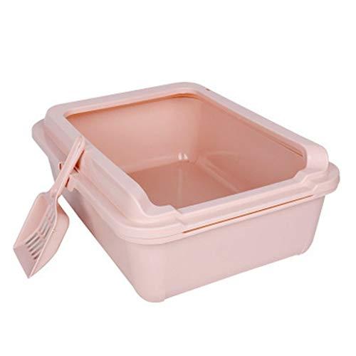 Susu Reinigen Deodorant Verhoging Zorgt For Extra Grote Dubbele Kattenbakvulling Wastafel Anti-spat Universele Klep Open Kleine Schattige (Color : Pink)