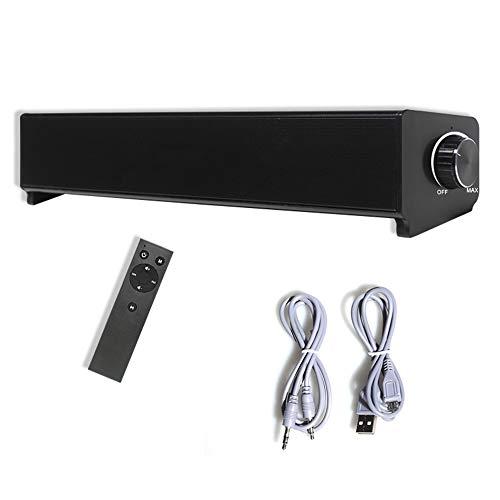 Barras de sonido para TV Con cable e inalámbrico Control remoto Bluetooth Parlantes de audio Barra de sonido Montable en la pared Compatible con audio al aire libre dual Manos libres-Múltiples modos