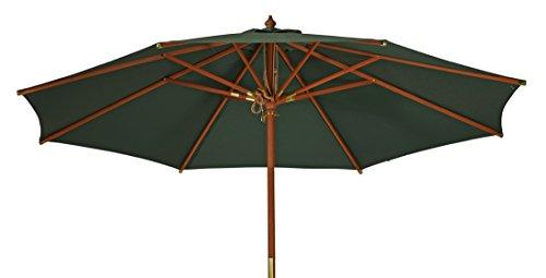 Kai Wiechmann Sonnenschirm Sunshine ø 300 cm Garten, grün, UV-Schutz 50+ ✓ mit Windauslass ✓