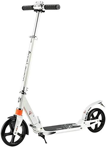 Patinetes Para Niños Plegable for adultos Kick scooter con ruedas grandes de altura ajustable de doble suspensión Sport regalos de cumpleaños for Vespa 8 Niños años en adelante Apoyos 220 libras LBWAR
