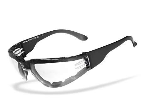 HSE SportEyes®   beschlagfrei, Winddicht, HLT® Kunststoff-Sicherheitsglas nach DIN EN 166   Sportbrille, Radbrille, Sonnenbrille  Brillengestell: schwarz, Brille: Sprinter 2.1 gepolstert