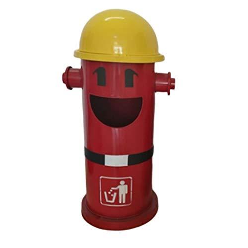 WINON Cubo de Basura Hidrante de Incendios Bote de Basura Cubo Interior extraíble Hierro Interior Cocina Contenedor de residuos Bar Restaurante Parque al Aire Libre con Tapa Papelera de Basura