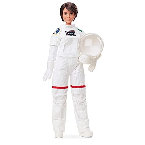 Barbie- Signature Role Models Bambola Samantha Cristoforetti Astronauta ESA, da 29,2Cm Castana e Articolata con Casco e Tuta Spaziale Realistica, Giocattolo per Bambini 6+Anni, GTJ81