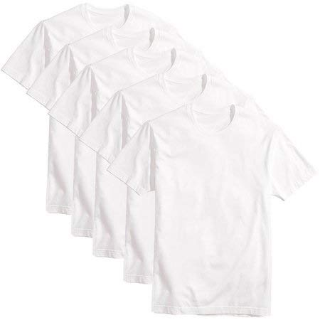 kit 5 camisetas brancas 100% algodão 30.1 (branco, G)