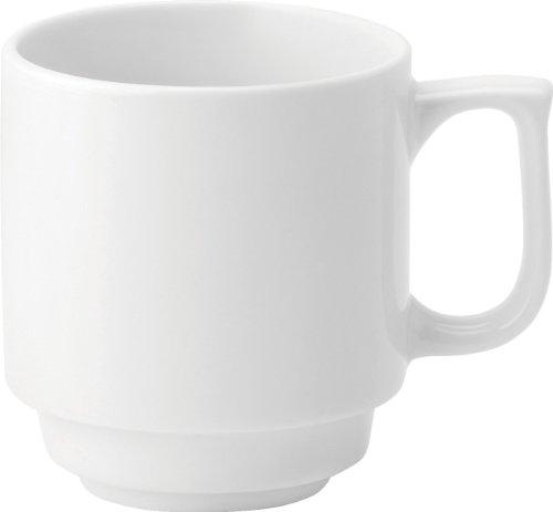 UTOPIA e90028 Pure stapelbare beker, 10 oz, 28 cl, wit (36 stuks)