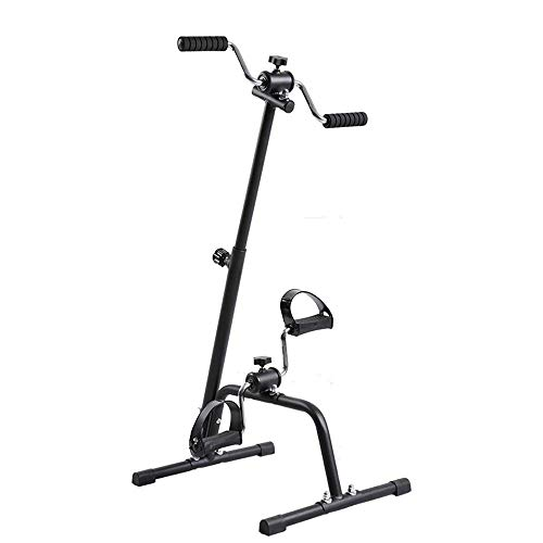 XBSLJ Mini Exercise Bike Pedal Exerciser, Adjustable Fit Sit Arm Leg Exercise Peddler Machine Indoor Fitness Bicycle Physical Therapy Machine for Seniors and Elderly