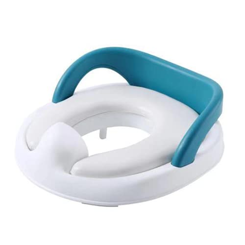 ngdt Asiento De Inodoro para Niños Reductor De WC para Bebé Adaptador WC con Cojín Suave Orinal De Bebé En Diseño Antideslizante Antisalpicadura Blanco-Blue||36 * 13cm
