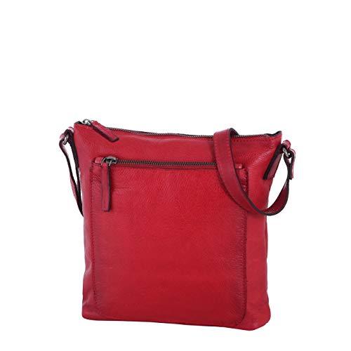 Rada Nature Leavenworth Umhängetasche für Damen auch echtem Leder, Abendtasche für Frauen, Schultertasche aus echtem Leder, modische Handtasche für Mädchen (rot)